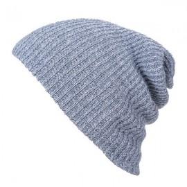 Unisex Baggy Beanie Oversize Winter Warm Crochet Knitted Cap Gray