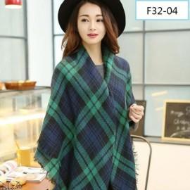 Women Fashion Long Soft Plaid Tassel Hem Scarf Winter Warm Cashmere Imitation Scarves Shawl Pashmina F32-04