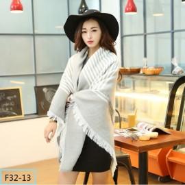 Women Fashion Long Soft Plaid Tassel Hem Scarf Winter Warm Cashmere Imitation Scarves Shawl Pashmina F32-13