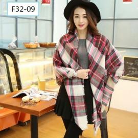 Women Fashion Long Soft Plaid Tassel Hem Scarf Winter Warm Cashmere Imitation Scarves Shawl Pashmina F32-09