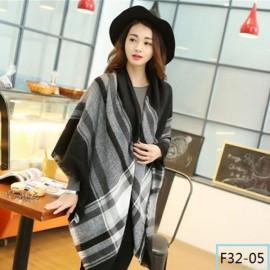 Women Fashion Long Soft Plaid Tassel Hem Scarf Winter Warm Cashmere Imitation Scarves Shawl Pashmina F32-05