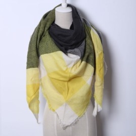 Women Fashion Long Soft Plaid Tassel Hem Scarf Winter Warm Cashmere Imitation Scarves Shawl Pashmina #07