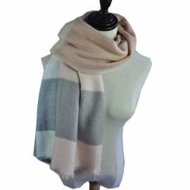 Women Fashion Long Soft Plaid Tassel Hem Scarf Winter Warm Cashmere Imitation Scarves Shawl Pashmina #09