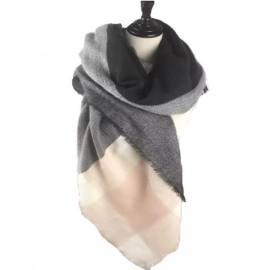 Women Fashion Long Soft Plaid Tassel Hem Scarf Winter Warm Cashmere Imitation Scarves Shawl Pashmina #08