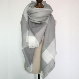 Women Fashion Long Soft Plaid Tassel Hem Scarf Winter Warm Cashmere Imitation Scarves Shawl Pashmina #11