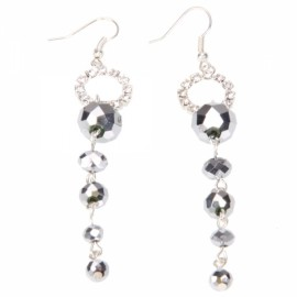 Sparkling Beads Chain Earrings