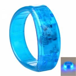Voice Control LED Light Glows Wristband Bracelet Bangle for Party Concert Blue