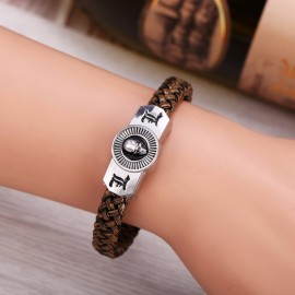 Anime Death Note Alloy Badge Brown Braided Bracelet Christmas Cosplay Gift
