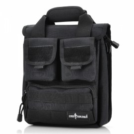 Free Soldier 210 High Density Waterproof Fabric Outdoor Bag with Pockets Black