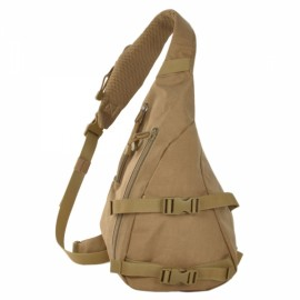 Free Soldier Outdoor Waterproof 1000D Nylon Tactical Single-shoulder Strap Triangle Bag Brown