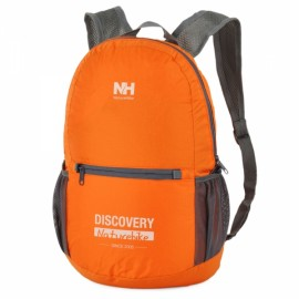 Naturehike Water Resistant Double-Shoulder Foldable Outdoor Backpack with Multi-pocket Orange & Gray