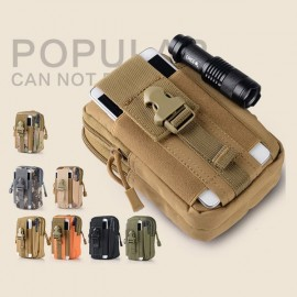 Portable 1000D Waterproof Oxford Pockets Buckle & Zipper Closure Men's Military Tactical Waist Bag for Outdoors Khaki