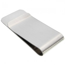 50 x 25 x 0.75mm Slim Stainless Steel Money Clip Pocket Wallet Credit Card Holder Silver