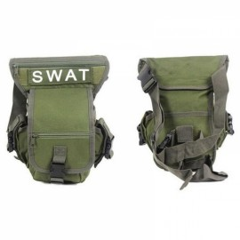 Utility Tactical Leg and Waist Pouch Carrier Bag for Hunting Riding Hiking Army Green
