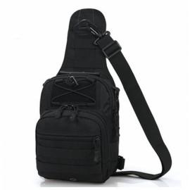 Leisure Outdoor Sling Bag Haversack Crossbody Bag for Hiking Camping Climbing Black