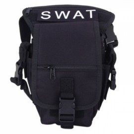 Utility Tactical Leg and Waist Pouch Carrier Bag for Hunting Riding Hiking Black
