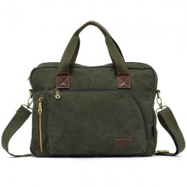 KAUKKO Business Casual Men Canvas Messenger Bag Handbag Army Green