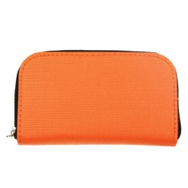 22-Slot CF/SD/SDHC/MS/DS Micro Memory Card Case Storage Pouch Bag Orange