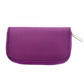 22-Slot CF/SD/SDHC/MS/DS Micro Memory Card Case Storage Pouch Bag Purple
