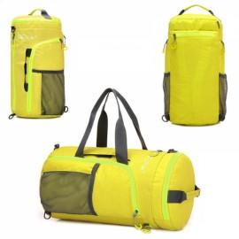 Tanluhu Multifunctional Waterproof Nylon Unisex Camping Hiking Shoulder Bag Folding Handbag Yellow