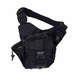 28L Multifunctional Tactical Outdoor One Shoulder Knapsack Bag Black