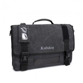 Multifunctional Large Capacity 17.3 inch Laptop Bag Unisex Canvas Crossbody Bag Handbag Black