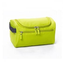 Waterproof Unisex Hanging Makeup Nylon Travel Organizer Cosmetic Bag Fluorescent Green