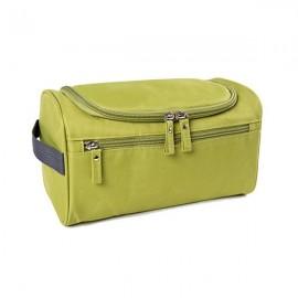 Waterproof Unisex Hanging Makeup Nylon Travel Organizer Cosmetic Bag Green