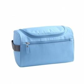 Waterproof Unisex Hanging Makeup Nylon Travel Organizer Cosmetic Bag Sky Blue