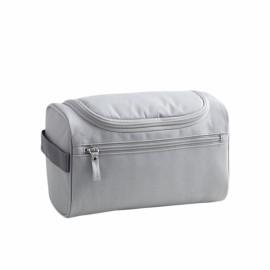 Waterproof Unisex Hanging Makeup Nylon Travel Organizer Cosmetic Bag Gray