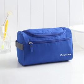 Waterproof Unisex Hanging Makeup Nylon Travel Organizer Cosmetic Bag Royalblue