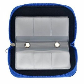 22-Slot CF/SD/SDHC/MS/DS Micro Memory Card Case Storage Pouch Bag Blue