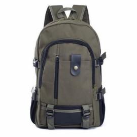 Fashion Arcuate Shoulder Strap Zipper Casual Bag Backpack School Bag Canvas Bags Designer Backpacks for Men