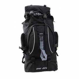 Fashion Outdoor Large Capacity Nylon Backpack Bag for Camping Hiking Climbing Travelling Black