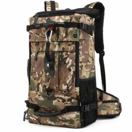 Outdoor 40L Large Capacity Oxford Backpack Multifunctional Bag for Camping Hiking Climbing Travelling Camouflage