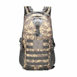 35L Outdoor Camping Hiking Waterproof Shoulder Bag Tactical Rucksack Camouflage Backpack ACU