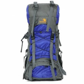 60L Large Capacity Waterproof Nylon Backpack Outdoor Hiking Travelling Climbing Bag Blue