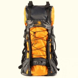 60L Large Capacity Waterproof Nylon Backpack Outdoor Hiking Travelling Climbing Bag Orange