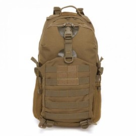 35L Outdoor Camping Hiking Waterproof Shoulder Bag Tactical Rucksack Camouflage Backpack Khaki
