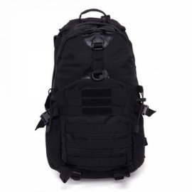 35L Outdoor Camping Hiking Waterproof Shoulder Bag Tactical Rucksack Camouflage Backpack Black