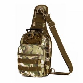 Outdoor Tactical Fly Fishing Camping Equipment Nylon Wading Sport Chest Pack Bag Size S CP Camouflage