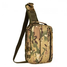 Outdoor Tactical Army Military Equipment Nylon 10-inch Tablet iPad Chest Pack Bag CP Camouflage