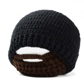 Men Winter Knit Crochet Beard Beanie Mustache Face Mask Ski Snow Hat Black