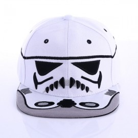 Fashionable Unisex Star Wars Cavalry Warrior Snapback Cap Cool Baseball Cap Hip-hop Hat White