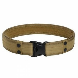 Outdoor Nylon Adjustable Military Tactical Belt - Khaki
