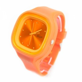 Fashionalbe Girl's Cute Jelly Watch Orange
