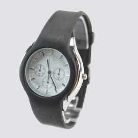 [Clearance] 3 New Compass Personalized Fashion Design Rubber Wrist Watch Black