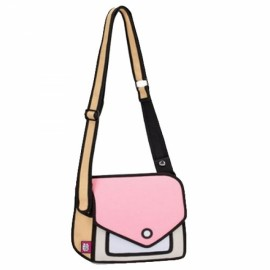 Sweet Creative 3D Stereoscopic Cartoon Nylon Women's Single-shoulder Bag Messenger Bag Pink