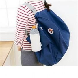 Fashionable Folding Multifunctional Waterproof Unisex Travel Backpack Navy Blue