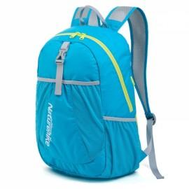 NatureHike Folding Backpacks Outdoor Ultralight Portable Hiking Travel Waterproof Backpack Light Lake Blue